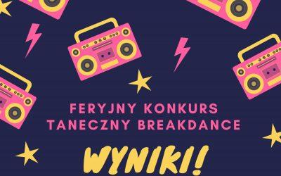 Znamy wyniki konkursu tanecznego Breakdance!