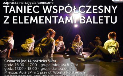 Nabór na zajęcia – taniec współczesny z elementami baletu
